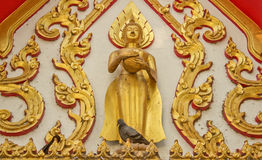 Thailändskt buddha färgpulver Arkivbild