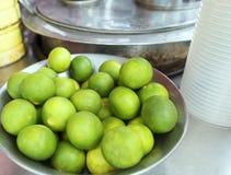 Thailändskt citronmaterial för gör iscitronte Arkivbilder
