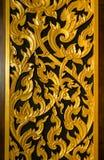 Thailändskt dörrslut för traditionell stil upp Royaltyfria Bilder