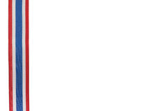Thailändskt flaggaband med vit bakgrund Arkivfoto