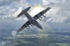 Thailändskt flygvapen C-130 Arkivbilder