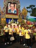 Thailändskt folk som firar i Thailand royaltyfria foton