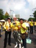 Thailändskt folk som firar i Thailand Fotografering för Bildbyråer