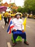 Thailändskt folk som firar i Thailand Arkivfoton