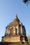 Thailändskt forntida stupatempel royaltyfri foto