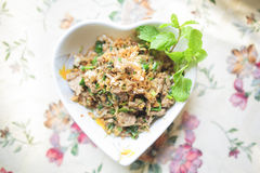 Thailändskt griskött för mu för matlabb Arkivbilder