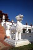 Thailändskt lejon på den kungliga floraslotten Royaltyfria Bilder
