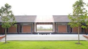 Thailändskt modernt arkitektoniskt Arkivfoto