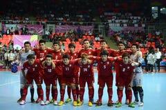 Thailändskt nationellt futsal lag Arkivbild