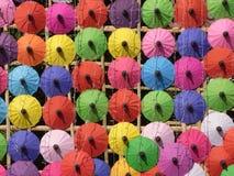 Thailändskt paraply Arkivfoto