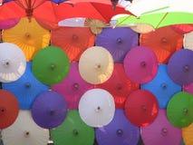Thailändskt paraply Fotografering för Bildbyråer