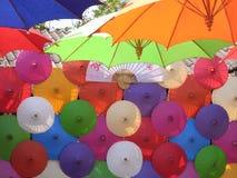 Thailändskt paraply Arkivbild