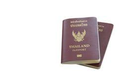 Thailändskt pass som isoleras Royaltyfri Fotografi
