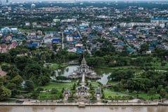 Thailändskt paviljonglandskap Arkivfoto