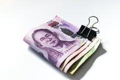 Thailändskt pengarbad Royaltyfri Bild