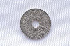 Thailändskt sällan gammalt mynt Arkivbilder
