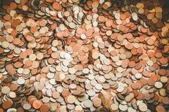 Thailändskt Satang mynt Royaltyfria Bilder