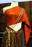 Thailändskt silke. Arkivfoto
