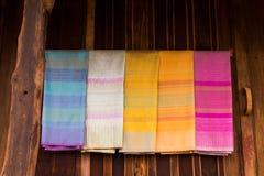 Thailändskt silke Arkivfoton