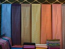 Thailändskt silke från Thailand arkivbild