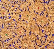 Thailändskt snida arkivbild