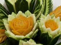 Thailändskt snida på grönsaker Arkivbild
