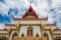 Thailändskt tempel med oklarheten Arkivbilder