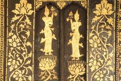Thailändskt tempelfönster Royaltyfria Bilder