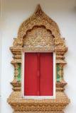 Thailändskt tempelfönster Fotografering för Bildbyråer