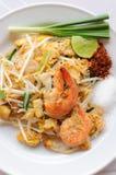 Thailändskt thai matblock Arkivbild