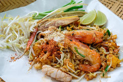 Thailändskt thai matblock arkivfoton