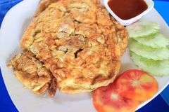 Thailändskt utforma omelett Royaltyfri Foto