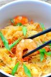 Thailändskt woka havsmat royaltyfri bild