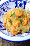 Thailändskt woka havsmat arkivfoton