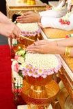 Thail bröllopceremoni Fotografering för Bildbyråer