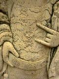 thail för tempel för staty för konstbangkok carvings orientalisk Royaltyfria Bilder