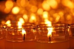 Thail  holy oil lamp Stock Photos