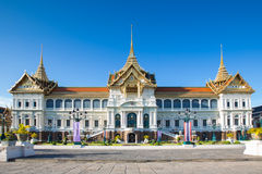 Thail Royal Grand palace in Bangkok. Where the king of Thailand leave stock image