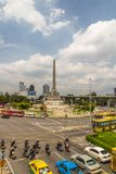 Editorial, Victory Monument, Obelisk, in Bangkok, Thailand. THAILAND – AUGUST 30, Victory Monument, Obelisk 30, 2017 in Bangkok, Thailand Stock Photo