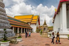 Editorial Wat Pho Buddhist Temple and the Thai Massage School Royalty Free Stock Photo