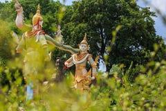 Thailand ängelskulptur Arkivfoto