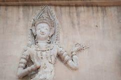 Thailand ängelskulptur Arkivfoton