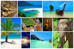 Thailand. Collage of pictures from the beauty of Thailand Stock Photography