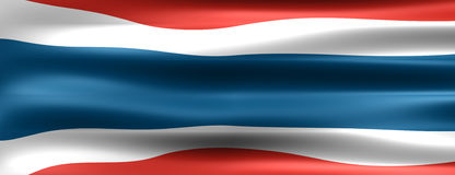 Thailand. Flag - Symbol of a country Royalty Free Stock Photo