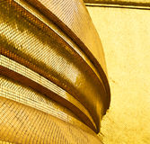 Thailand abstract cross colors column incision wat. Palaces in the temple  bangkok  asia Stock Photo