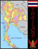 Thailand Administrative divisions Stock Images