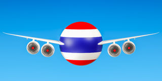 Thailand airlines and flying`s concept. 3D rendering Stock Photo