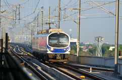 Thailand airport link electric train Stock Photos