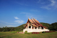 Thailand ancient architecture. Ancient architecture in Chiang Rai Thailand. The beauty of Thailand in the early houses located in the north of Thailand royalty free stock photo