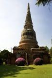 Thailand, ancient temples and pagodas. Temples and pagodas in Ayutthaia, ancient capital of Thai kingdoms, near Bagkok Stock Photos